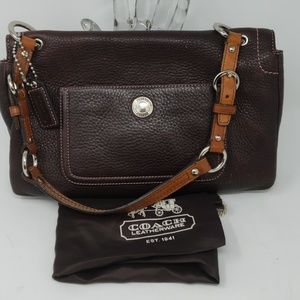 Coach Bags - Coach Chelsea Brown Leather Bag with Dust Bag